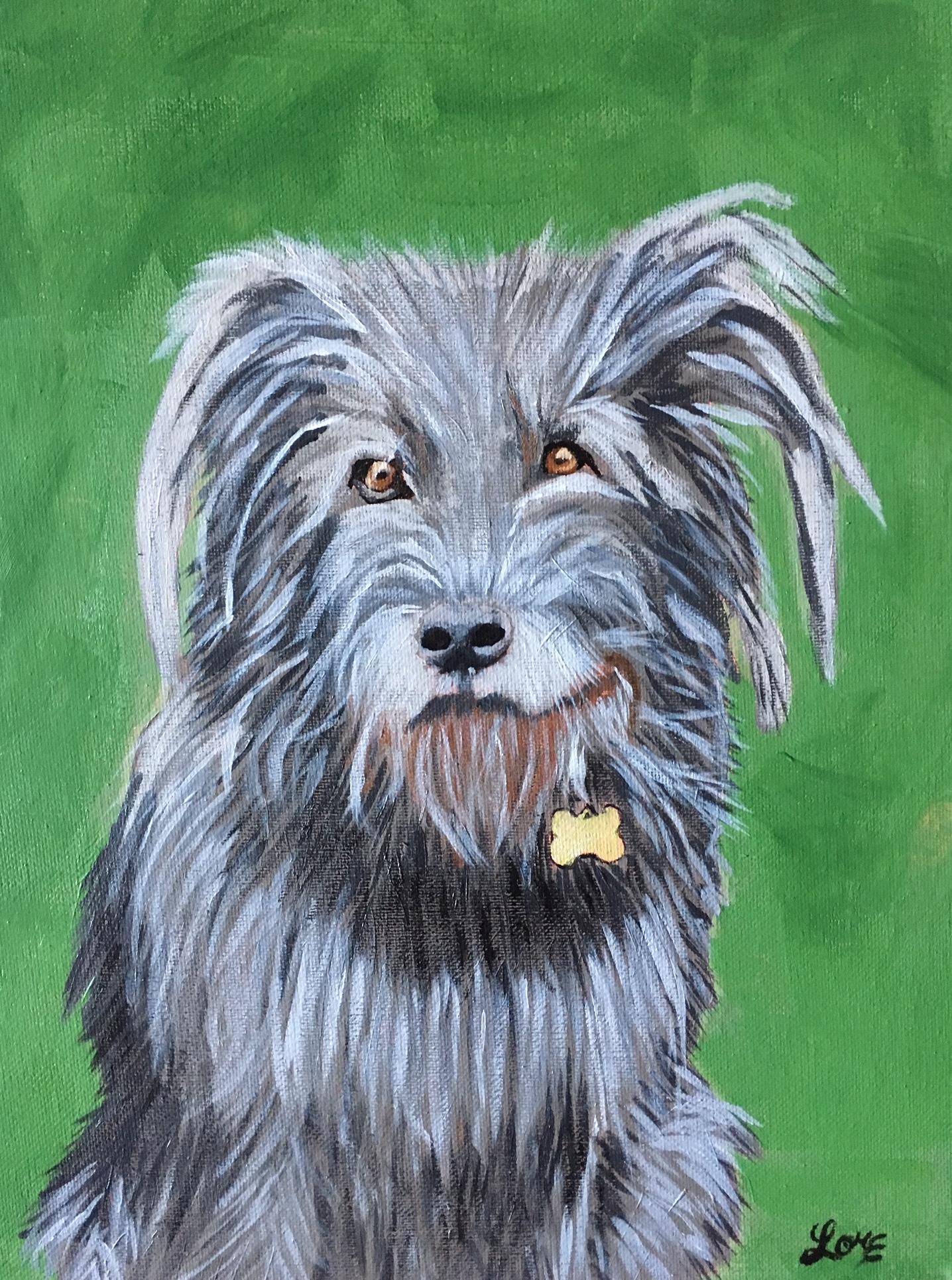 Dog art painting